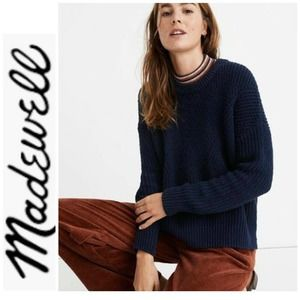 Madewell Navy Blue Joslyn Popover Sweater M